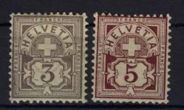 Schweiz Michel No. 51 Y c , 52 Y a * ungebraucht
