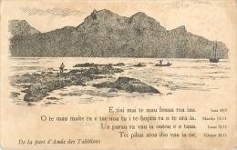 TAHITI - DE LA PART D AMIS DES TAHITIENS  - ISAIA - MAREKO - LOANE - GENESE - Tahiti