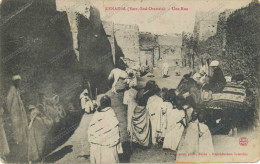 1908 ALGERIE.KENADSA.UNE RUE EXTREME SUD ORANAIS , Old Postcard - Autres Villes