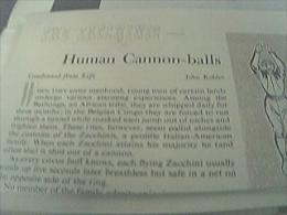 Magazine Item 1948 - The Human Cannonball The Zacchinis Family Zacchini - 1950-Hoy