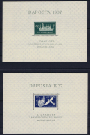 Deutsche Reich: Danzig Mi Block 1 + 2  MNH/**, 1937