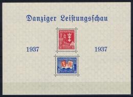Deutsche Reich: Danzig Mi Block 3 MNH/**, 1937