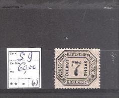 Confédé. De L´Allemagne Du Nord :Service N° 9 (*) Neuf Sans Gomme.Cote Yvert : 60,00 €. - Conf. De L' All. Du Nord