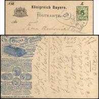 Bavière 1895. Carte Postale TSC. Oscar Sperling, Leipzig Reudnitz. Industrie Graphique Et Fabrication De Cachets. - 1894 – Antwerp (Belgium)