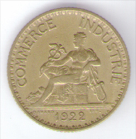 FRANCIA BON POUR 1 FRANC CHAMBRES DE COMMERCE 1922 - Francia