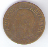 FRANCE -  5 CENTIMES (1857) - NAPOLEON III / A (PARIS) - C. 5 Centesimi