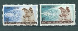 ROMANIA - 1957 - MLH/* - LAIKA  -  Mi 1684-1685  - Yv 1550-1551 - Lot 9380 - Nuevos