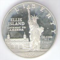 STATI UNITI DOLLAR 1986 AG SILVER - Emissioni Federali