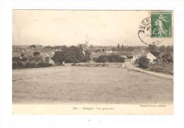 CPA  : 36 - Indre - Vatan : Vue Générale : 1er Plan : Champ - 2ème Plan : Ville : Maisons - église - Sonstige Gemeinden