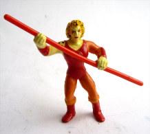RARE Figurine COSMOCATS THUNDERCATS - 1986 - LJN MINIATURES -  CHEETAH FELIBELLE Avec Son Bâton - Thundercats