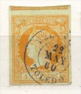 Año 1860 Edifil 52 4c Isabel II  Matasellos Yllescas Toledo - 1850-68 Royaume: Isabelle II