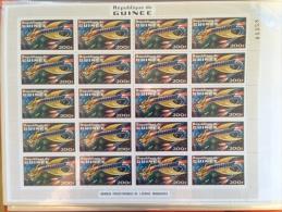Guinée Yv. 456 Feuille Sheet 20 Stamps Dragon Animaux Préhistoriques De L'espace Imaginaires RARE ** MNH - Guinea (1958-...)
