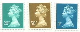 1993 - Gran Bretagna 1730/32 Effigie, - Nuovi