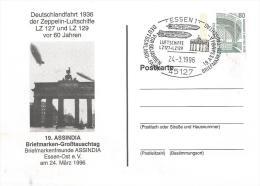 Germany 1996 Essen Zeppelin Airplane Cover - Zeppelins