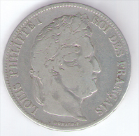 FRANCIA 5 FRANCS 1832 LOUIS PHILIPPE I AG SILVER - Francia