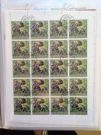 Guinée-Bissau Faune Fauna Gorille Gorilla Singe Monkey Ape Feuille Sheet Of 20 RARE Used