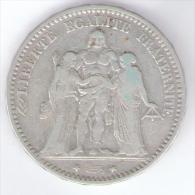FRANCIA 5 FRANCS 1874 AG SILVER - Francia
