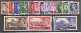 ** 1959 QATAR ELISABETTA ( YVERT 1/15 ) MNH CAT. € 95,00 - Qatar