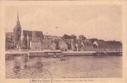 PONT SUR YONNE L'Eglise, Le Lavoir Et Le Quai Des Buttes Cpa Sépia Circulée En 1933 Bon état Voir Scans - Pont Sur Yonne