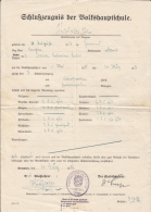 DISMISSAL CERTIFICATE FROM BOARDING SCHOOL, 1937, GERMANY - Historische Dokumente