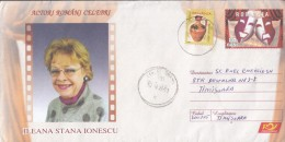 ACTORS, ILEANA STANA IONESCU, COVER STATIONERY, ENTIER POSTAL, 2008, ROMANIA - Cinema
