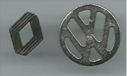PIN113 - PIN´S - VOLKS WAGEN E RENAULT - Volkswagen