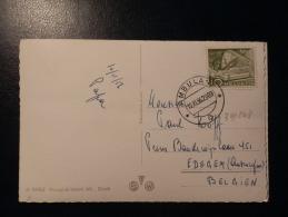 39/243    CP  POUR LA BELG.  1956  CACHET AMBULANT - Svizzera