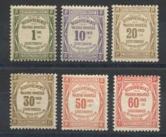 France Taxes -  N� 43,44,45,46,47,48 (6val.) - Neuf * -Cote 520�