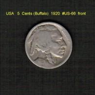 U.S.A.   5  CENTS  (BUFFALO)  1920  (KM # 134) - 1913-1938: Buffalo