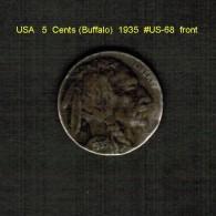 U.S.A.   5  CENTS  (BUFFALO)  1935  (KM # 134) - Émissions Fédérales
