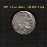 U.S.A.   5  CENTS  (BUFFALO)  1936  (KM # 134) - Emissioni Federali