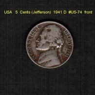 U.S.A.   5  CENTS  (JEFFERSON)  1941 D  (KM # 192) - Federal Issues