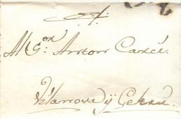 Prefilatelia Año 1801 Carta De Barcelona A Villanueva Y La Geltru Marcas B6 - Spain