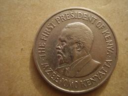 KENYA 1969  ONE SHILLING  KENYATTA Copper-Nickel  USED COIN In GOOD CONDITION. - Kenya