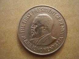 KENYA 1971  ONE SHILLING  KENYATTA Copper-Nickel  USED COIN In GOOD CONDITION. - Kenya