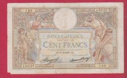 MERSON  //   100 Francs Du 11/2/1937 état B+ - 1871-1952 Circulated During XXth