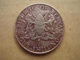 KENYA 1973  ONE SHILLING  KENYATTA Copper-Nickel  USED COIN In FAIR CONDITION. - Kenya