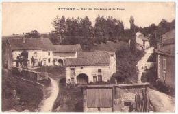 (88) 263, Attigny, Novian, Rue Du Gotteau Et La Cour - Frankreich