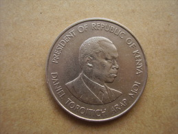 KENYA 1980  ONE SHILLING  ARAP MOI Copper-Nickel  USED COIN In VERY GOOD CONDITION. - Kenya