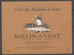 THEME MOULIN étiquette De Vin MOULIN A VENT 8 - Windmills