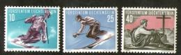Liechtenstein N° 296-298-299 (3v) 2ème Série Sports - Liechtenstein