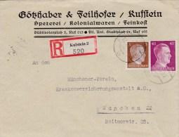 1941 D. Reich BESSERE MiF.  Firmen R.-Brief Kufstein/München. Bahnpost. MK - Germania