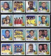 AUSTRALIA 2000 Gold Medal Winners Set Of 16 MNH / ** - 2000-09 Elizabeth II