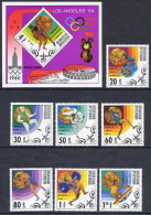 MONGOLIA 1980 Moscow Olympics Medal Winners Set Of 7 + Block MNH / **.  SG 1282-89 - Mongolia