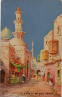 Cpa Vieille Rue De Tunis Raphael Tuck & Sons , Serie Oilfacsim No3613 , Cachet Commercial D'un Métreur à Lomme(Nord) - Tuck, Raphael