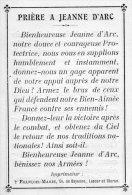 Prière A Jeanne D' Arc Et Derrière Prière A Saint Michel - Images Religieuses