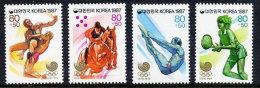KOREA 1987 Seoul Olympic Games Set Of 4 MNH / **.  Sc. B43-46 - Korea, South
