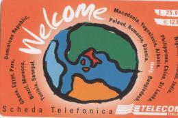 USATA- TELECOM ITALIA-WELCOME DA L. 25.000(E.12,91)-WLC - [2] Sim Cards, Prepaid & Refills