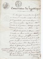 VIEUX PAPIER TIMBRE MARQUE FISCALE  FILIGRANE FLEURS DE LYS 1818 AURILLAC  CANTAL ASTORY - Historical Documents