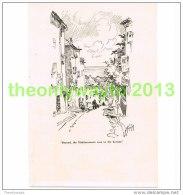 MEDITERRANEAN HORIZON, CAGNES, FRANCE, BOOK PLATE/PRINT, 1920 - Prints & Engravings